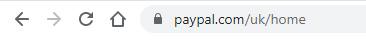 Genuine Paypal URL
